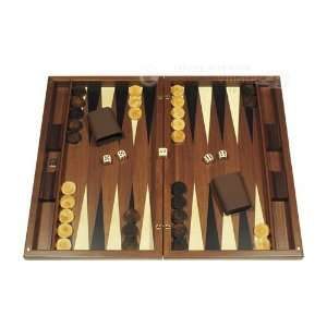 Dal Negro Wood Backgammon Board Game Set   Iridescent