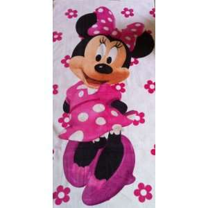 Disney Minnie Mouse Club Hosue Bath Beach Cotton Towel   60x31