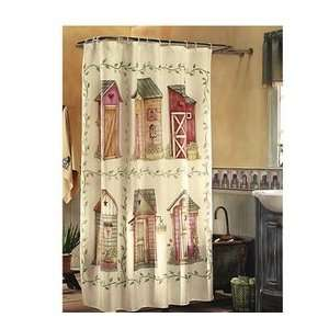 Novelty Shower Curtains Outhouse Shower Curtain By Linda