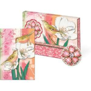 Bird Note Cards with Decorative Brooch Box
