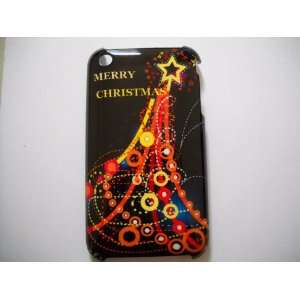 Star Christmas Tree Designed Hard Case (Black) for iPhone