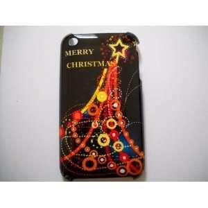 Star Christmas Tree Designed Hard Case (Black) for iPhone