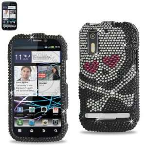 Hearts Black Bling Case W/Screen Protector Cell Phones & Accessories