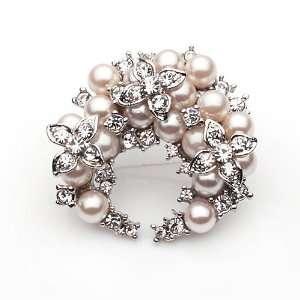 Rhinestone Crystal Decorative Brooch Breast Pin [3 Colors](06001 3