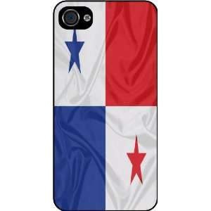 KnightTM Panama Flag Rubber Black iphone Case (with bumper) Cover