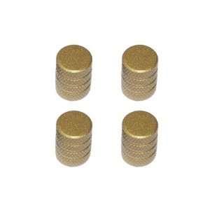 ire Rim Wheel Aluminum Valve Sem Caps   Gold Color