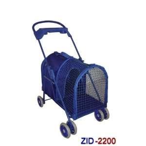 Large Deluxe Pet Dog Cat Stroller Blue 2200 Kitchen
