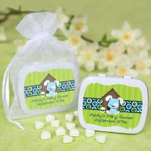 Boy Puppy Dog   Personalized Mint Tin Baby Shower Favors Baby