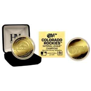COLORADO ROCKIES 2007 National League Champions 24KT GOLD COIN By