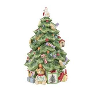 Spode Christmas Tree Sculpted Christmas Tree Shape Covered Candy Bowl