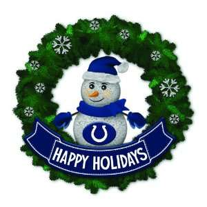 Colts Lighted Snowman Artificial Christmas Wreath