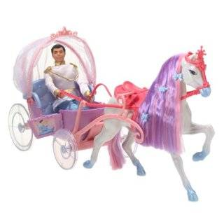 Barbies 2009 Horse and Carriage (Doll Not Included) Toys & Games