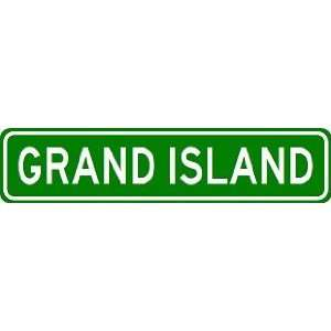 GRAND ISLAND City Limit Sign   High Quality Aluminum