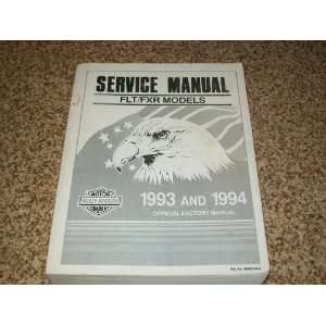 Harley Davidson Service Manual. FLT/FXR Models. 1993 and