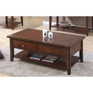Nice Solid Wood Classic Coffee Table w/ Drawers Furniture & Decor