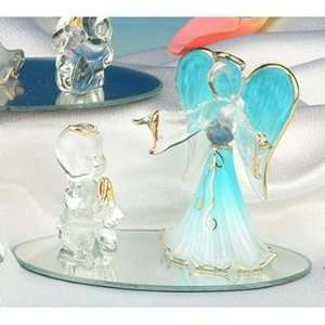 Collectible Praying Child Blue Guardian Angel Figure Figurine