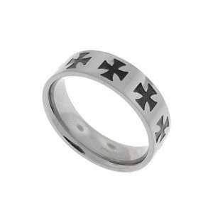 Celtic Iron Cross Band Ring Size 10(Sizes 8,9,10,11,12,13) Jewelry
