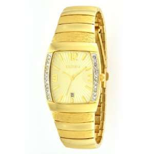 Elgin Mens FG354 Gold tone Austrian Crystal Accented Watch Watches