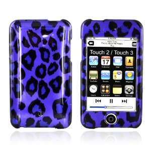 for iPod Touch 2 & 3 Hard Cover Case PURPLE LEOPARD
