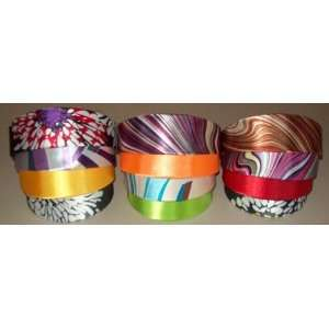 Girls 2 Wide Satin Headbands Assorted Designs