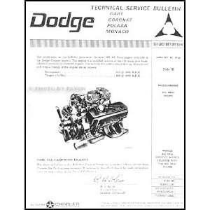 Dodge Hemi Engine Repair Shop Manual Reprint Supplement Dodge Books