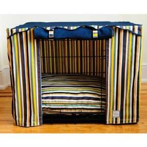 Cabana Stripe Dog Crate Cover Size Small