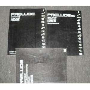 1985 Honda Prelude Service Shop Repair Manual Set Oem (service manual
