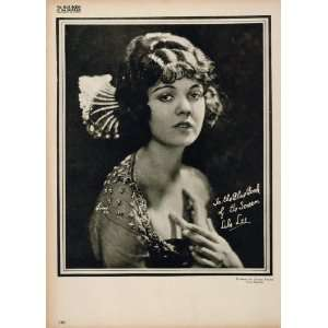 1923 Lila Lee Silent Film Actress Movie Biography Print