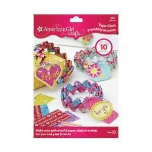 American Girl Friendship Bracelet Kit Paper Chain; 3 Items