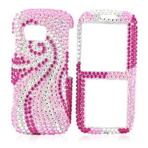 for Samsung Rant Bling Hard Case HOT PINK SILVER GEMS Electronics