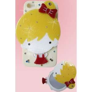 Mirror Luxury Designer Case with Cute Little Girl for