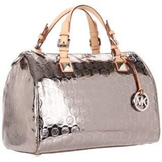Kors Grayson Large Satchel Pale Gold handbag tote $298 New Clothing