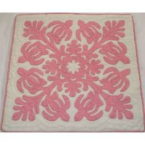 2 Hawaiian quilt cushions handmade hand stitched quilted