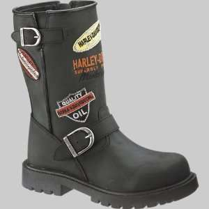 Harley Davidson Youth Patches Boot D61061