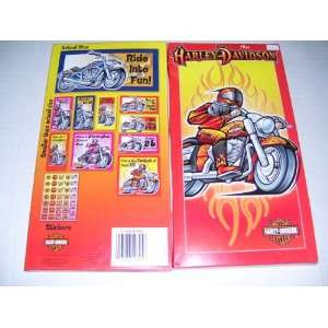 30 Harley Davidson Embossed Foil Valentines Day Cards With Stickers