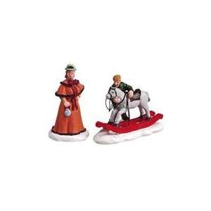 Village The Rocking Horse 2 Piece Figurine Set