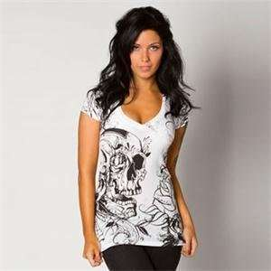 Metal Mulisha Womens Eloquence T Shirt   Small/White