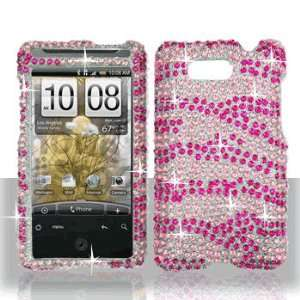 Premium   HTC Aria Full Diamond Hot Pink/Pink Zebra Cover