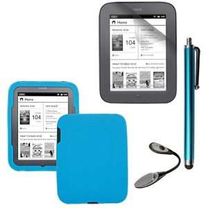 Screen Protector + Blue Soft Silicone Cover Case + Touch Screen Tablet