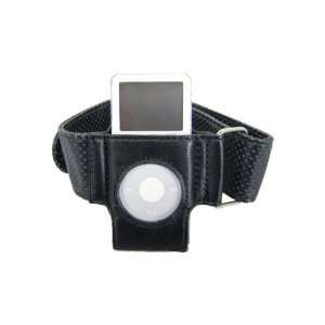 New Arm Band with Leather Case for iPod Nano, Color Black