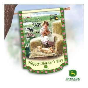 John Deere Happy Mothers Day Decorative Flag by The