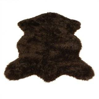 Bear Collection  Faux Fur Rug  5 foot X 7 foot: Home & Kitchen