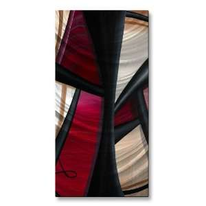 Wow and Red 1 Large Abstract Metal Wall Art by Artist