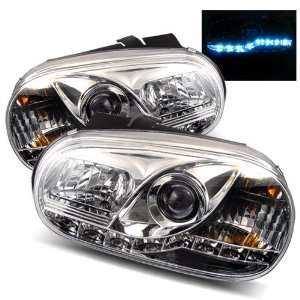 99 05 Volkswagen Golf IV Chrome LED Halo Projector Headlights /w DRL