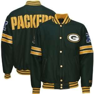 Green Bay Packers Green Wool Varsity Jacket Sports & Outdoors