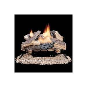 Propane Gas Log Set W/ G45 Burner And Variable Flame Remote Home