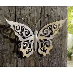 Metal Butterfly Wall D?cor   Black Metal Butterfly Wall Art with