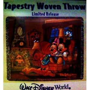 Mickey Mouse & Minnie Mouse   Tapestry Woven Throw