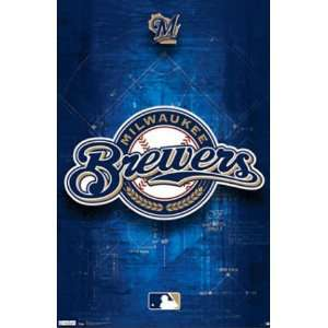 Milwaukee Brewers Logo 2011 Poster Print, 22x34:  Home