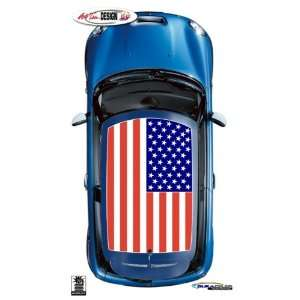 Mini Cooper United States Flag Roof Graphic Kit 1